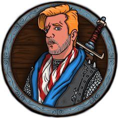 JAVIER ARRÉS ILLUSTRATION: New Character for RPG fantasy app videogame. The Knight (0% Damage)