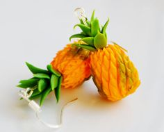 Miniature Pineapple Earrings Fimo Polymer by ClaytimeDesignsUK, £11.00