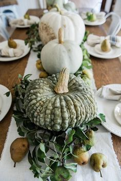 54 Fall Dining Table Decor Centerpieces Ideas That Are Seriously Gorgeous Dining Table Decor Centerpiece, Fall Dining Table, Centerpiece Decorations, Autumn Table, Table Bench, Dining Decor, Bench Seat, Dinner Table, White Pumpkins