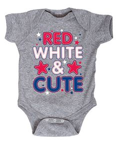 Athletic Heather 'Red White & Cute' Bodysuit - Infant #zulily #zulilyfinds