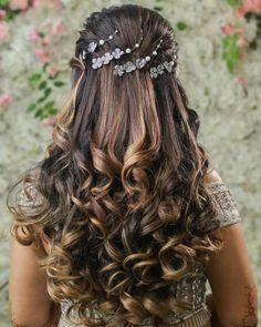 Bridal Hairstyle Indian Wedding, Bridal Hair Buns, Bridal Hairdo, Bohemian Hairstyles, Wedding Hairstyles For Long Hair, Indian Hairstyles, Bridal Braids, Hair Wedding, Open Hairstyles