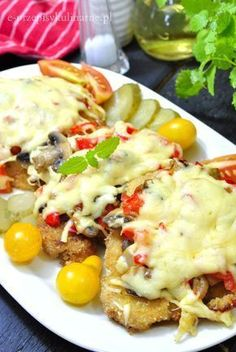 Schabowy po królewsku Best Appetizer Recipes, Best Appetizers, Polish Recipes, Polish Food, Diet And Nutrition, Lunches And Dinners, Italian Recipes, Healthy Living, Food Porn