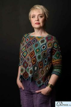 New Ideas Crochet Sweater Dress Pattern Granny Squares Cardigan Au Crochet, Gilet Crochet, Black Crochet Dress, Crochet Jacket, Freeform Crochet, Cardigan Pattern, Crochet Cardigan, Crochet Stitches, Blanket Crochet