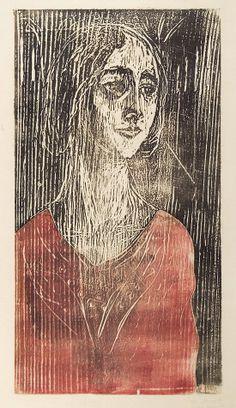 Birgitte aka the modell Birgit Prestøe (1906-86), Nordic Thoughts: Edvard Munch (1863-1945)