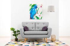 Canapea Fixa 2 locuri Malva Light grey #homedecor #interiordesign #inspiration #livingroom #livingroomdecor #decor Aqua, Love Seat, Living Room Decor, House Design, Couch, Pastel, Interior Design, Retro, Inspiration