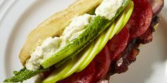 Bacon, lettuce, apple and tomato sandwiches served with a fresh, homemade apple aioli.