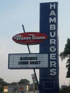 Miner Dunn restaurant. Burgers and orange sherbert for dessert (Highland, IN)