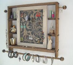 Jewellery organizerlarge cypressjewelry by ebonyredcreations