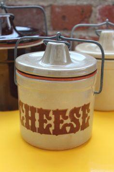 """Vintage Crock, Says """"Cheese"""""""