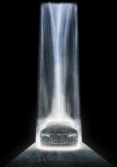 Water fall on Audi 8