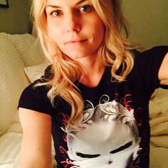 "Jennifer Morrison: ""CHECK OUT MY FIRST EVER, LIMITED EDITION CHARITY T-SHIRT! 100% of the proceeds goes towards Dr. Paul Grossfeld's Jacobsen Syndrome research to find a cure…"""