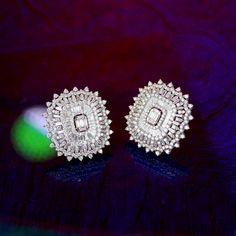 Diamond Earing, Diamond Studs, Diamond Jewelry, Bridal Earrings, Wedding Jewelry, Silver Earrings, Designer Earrings, Fine Jewelry, Jewelry Design