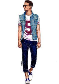 Men's Fashion Illustration: ONE DAPPER 0.1