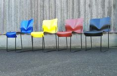 Unknown chairs 1970s. Price: on request.