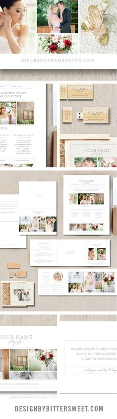 Photography Marketing Set - Wedding Photographer Business Cards - Pricing Guide Templates - Price List - USB Template *Images courtesy of Abbie McFarland Photography @abbiemcfarland get the matching Cambria website from Seaside Creative @emilyhenning