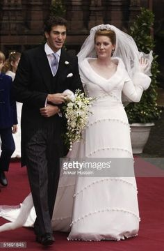 Ed Van Cutsem and Lady Tamara Grosvenor leave their wedding at Chester Cathedral on November 6, 2004 in Chester, England. Lady Tamara is the eldest daughter of The Duke and Duchess of Westminster and Edward van Cutsem - a good friend of Prince William - is the eldest son of the van Custem's. Van Cutsem, 30, famously accompanied Prince William on his travels to South Africa in 2000, and his parents are close friends of The Prince Of Wales.
