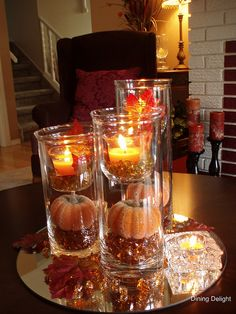 Elevate your event! Adding candles at different heights in your centerpiece helps to attract the eyes of your guests!