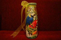 Parrots on Bottle. $12.00, via Etsy.