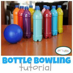DIY plastic bottle bowling
