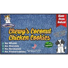 Chewy's Coconut Chicken Cookie - Best Organic Pet Treat, Grain Free Dog Treats, All Natural Dog Treats, Best Organic Chicken Treat, High Protein Coconut Chicken Dog Treat, 12 oz bags -- You can visit the image link more details. (This is an affiliate link and I receive a commission for the sales)