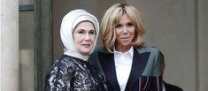 PHOTOS – Brigitte Macron, ultra stylée, ose le blazer Louis Vuitton bicolore - Gala