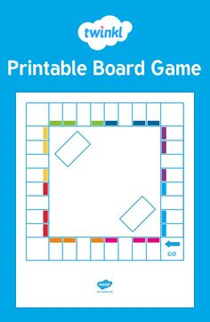 Printable Board Game - his template is great for getting children to create their own board games!