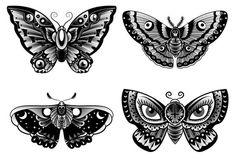 Old school butterfly tattoo collection Free Vector - Tattoo ideas - . - Old school butterfly tattoo collection Free Vector – Tattoo ideas – - Fake Tattoos, Body Art Tattoos, Tattoo Drawings, Small Tattoos, Sleeve Tattoos, Tattoo Sleeves, Dog Tattoos, Tattoo Old School, Tattoo Test