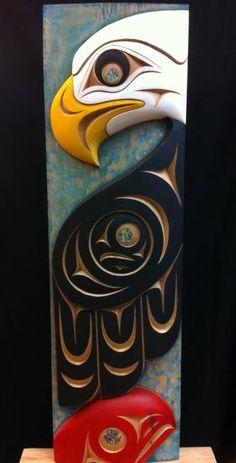 Terry Horne Eagle & Salmon panel