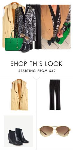 """""""Untitled #3465"""" by elia72 ❤ liked on Polyvore featuring J.Crew and Ray-Ban"""