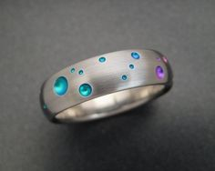 Titanium Rainbow Ring