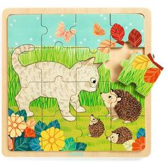Djeco - puzzel tuin +3jr - 16 stks #toys #playtime #littlethingz