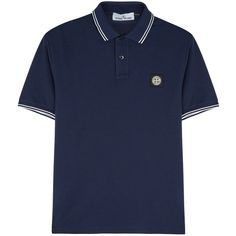 Stone Island Navy piqué cotton polo shirt (8.015 RUB) ❤ liked on Polyvore featuring men's fashion, men's clothing, men's shirts, men's polos, mens navy blue shirt, mens pique polo shirts, mens stretch shirts, old navy mens shirts and mens navy blue polo shirt