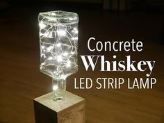 DIY whisky bottle lamp - YouTube #BottleLamp