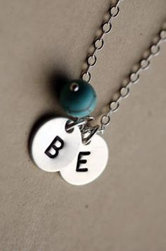 initial charm necklace :: love!