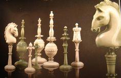 Chess Set India Camel Bone