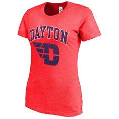 Dayton Flyers New Agenda Women's Big Arch & Logo Ring Spun T-Shirt - Heathered Red - $15.99