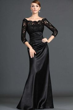 Modest  Black Long Lace  Sleeves Formal  Evening  Dress-in Evening Dresses from Apparel  Accessories on Aliexpress.com $72.49