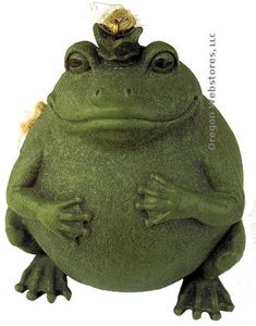 Round Green Frog Prince Ornament