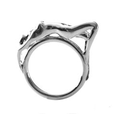 """Els Cuvelier 3D printed the ring """"Woman"""" through i.materialise - Morpheus custom makes jewelry from images using 3d printing technology http://www.morphe.us.com/"""