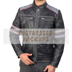 It is worth stating here that these racer double stripe black leather jackets have always enhanced the overall style of the wearer. There is diverse quality of age, temperament and location in these leather jackets. Distressed Leather Jacket, Leather Pants, Black Leather, Biker Leather, Cafe Racer Girl, Cafe Racer Build, Cafe Racer Motorcycle, Motorcycle Jacket, Classic Motorcycle