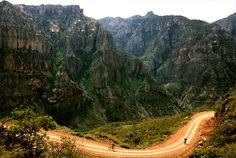 Mountain bikers near Batopilas, Chihuahua, 2005