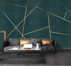 Bacaz Custom Concrete Geometric Wallpaper Wall Sticker for Living Room Background Geometric Wall Decor Print Wall Mural Bedroom Wall Designs, Bedroom Decor, Bedroom Sets, Geometric Wall Paint, Geometric Decor, 3d Wall Murals, Wallpaper Murals, Adhesive Wallpaper, Wallpaper Wallpapers