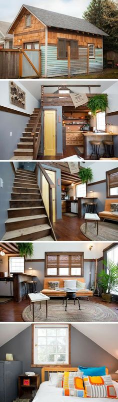 Portland tiny house ~ Great pin! For Oahu architectural design visit http://ownerbuiltdesign.com