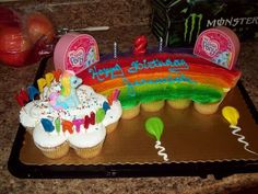 Eva S Rainbow Cupcake Cake My Little Pony Eva S