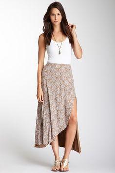 Print Hi-Lo Skirt