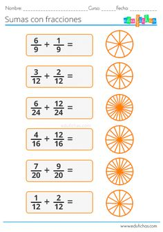 Math Fractions Worksheets, Learning Fractions, 4th Grade Math Worksheets, 3rd Grade Math, Teaching Math, Algebra, Addition And Subtraction Practice, Math Charts, Creative Teaching