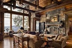 Lodge Or Cabin With A Rustic Theme