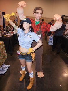 Wreck-it Ralph and Fix-it Felix, Jr. Halloween costumes for adults #DIY #Creative #Disney characters