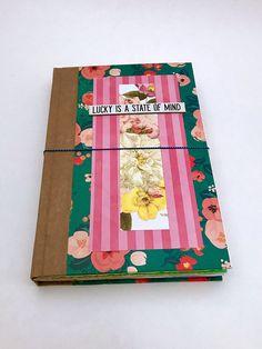 Colorful Junk Journal Repurposed Books Memory Planner