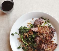 Skirt Steak With Shallots and Sautéed Watercress recipe